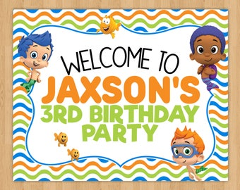 Bubble Guppies Party Sign