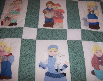 hand made, hand quilted, King size quilt