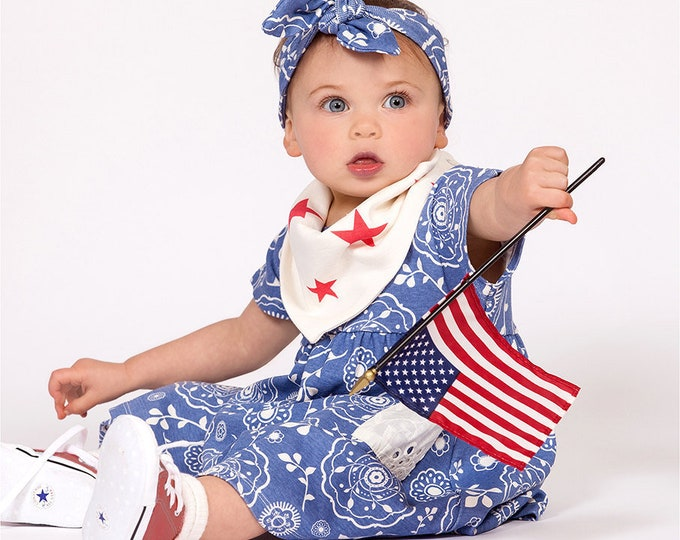 Baby Girl Fourth of July Outfit, Baby Girl Dress, Baby Girl Blue Dress, Baby Girl Summer Dress, Baby Girl Blue Dress, TesaBabe DR73PBDIO0000
