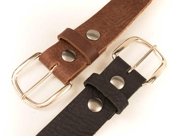 The Standard Belt, leather belt strap, full grain leather, mens belt, womens belt