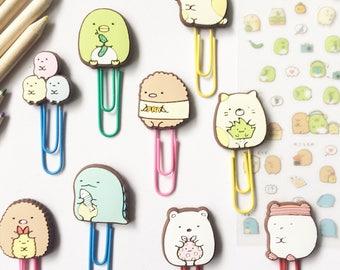 Cute Sumikko Gurashi Paper Clips Bookmarks Kawaii