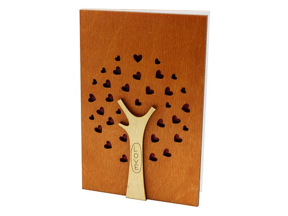 5th Wedding Anniversary Traditional Gifts: 5th Wedding Anniversary Card Wood Anniversary Gift 5th