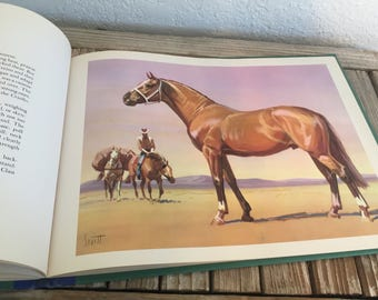 Vintage Book Titled Around The World With Horses written and illustrated by Sam Savitt