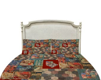 Farmhouse Chic Rustic Primitive Duvet Cover or Comforter  Twin Full Queen King Bedding