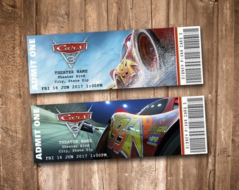 Cars 3 Collectible Movie Tickets