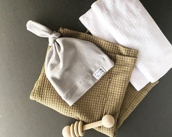 Baby Swaddle- the | Liam | Olive Swaddle Blanket