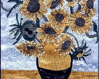 Sunflowers-Van Gogh Mosaic Reproduction