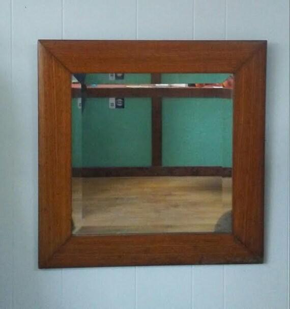 Rustic Mirror Vintage Wall Mirror Wood Framed Mirror Bathroom
