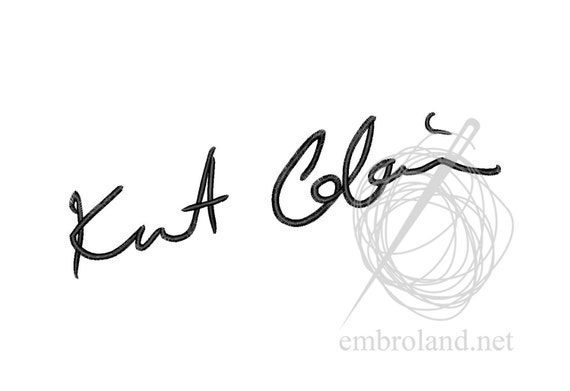 Kurt Cobain Signature Autograph - Machine Embroidery ...