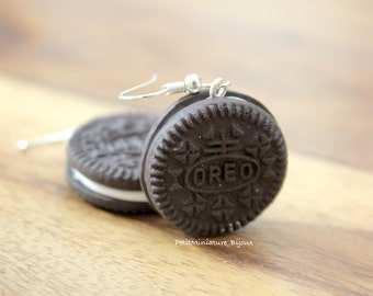 Oreo Cookie Earrings-Jewelry-Earrings Pendants Fimo Oreo Cookie-Cookie Collection