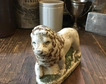 Antique Porcelain Lion Carnival Prize