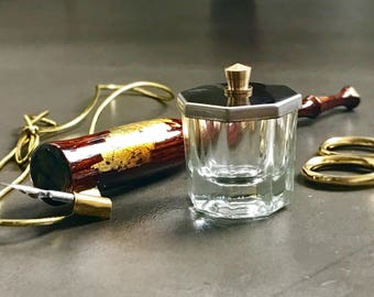Glass Inkwell, Calligraphy Inkwell, Dip Pen Ink Well, Calligraphy Gift, Pointed Pen Calligraphy Supplies