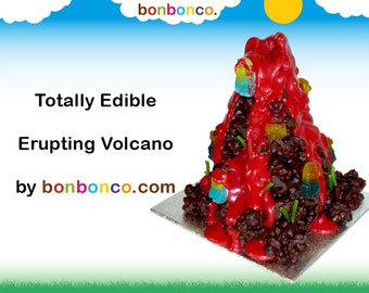 Chocolate Erupting Volcano Kit Personalised Gift by Bonbonco.com