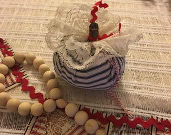FARMHOUSE Ticking Fabric Pumpkins