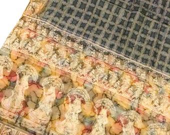 Pure Silk Sari, vintage sari, Indian dress, saree traditional fabric, home decor, clothes, craft, sewing, PSS2060