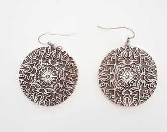 OTTOMAN EARRINGS / / silver plated earrings / / Turkish jewelry/tribal jewelry/gift for you / mother's day