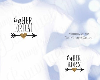 Gilmore Girls Tees, Tshirts, Gilmore Girls Shirts, I'm her Lorelai, I'm Her Rory, Mommy and Me Shirts, Gilmore Girls Gift