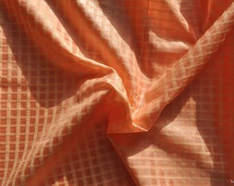 Top quality pure silk fabric check fabric soft fabric by the yard