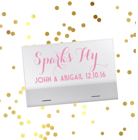 Wedding reception matches, sparkler sendoff matches, Sparks Fly matchbook, reception matches, personalized matches, wedding matches favor