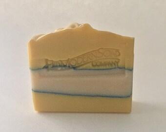 Lemon Vanilla Sugar Soap / Artisan Soap / Cold Process Soap / Vegan Soap