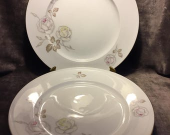 Vintage Johann Haviland Bavaria Germany dinner plates set of 4 Sweetheart rose