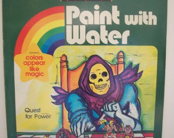 Great Vintage Masters Of The Universe Paint with Water Book by GOLDEN 1984 - #1773