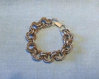 Vintage 1940s Silvertone 7 Inch Link/Loop Bracelet