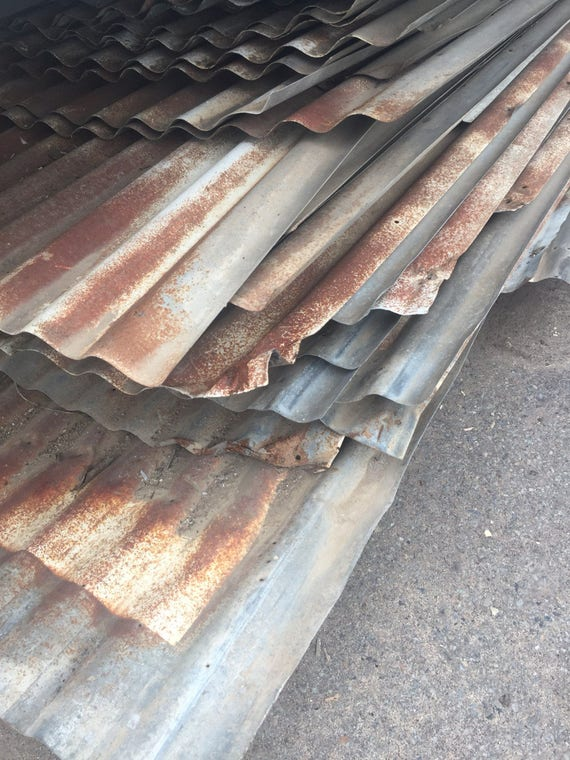 Galvanized metal sheets salvaged barn roof roofing for Galvanized metal sheets for crafts