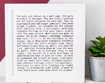 Marriage Print; Wedding Gift; Wedding Print; Wedding Present; Gift For Couple; Anniversary Gift; AP044