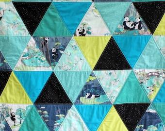 Pandalicious Art Gallery Modern Triangles Quilt