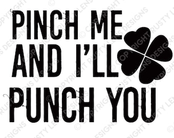 Pinch=Punch Digital Download, SVG File