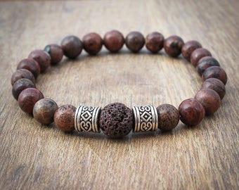 His Lava Bead Bracelet - Aromatherapy