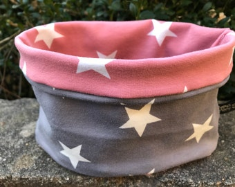 Schossier dog fashion Hundeloop spring star grey pink