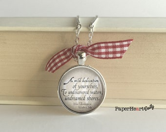 Shakespeare - Necklace - Wild Dedication - Winter's Tale - Quote Necklace - (B0331)