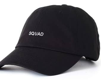 Black Dad Cap Squad Low Profile Hat **Free Domestic Shipping**