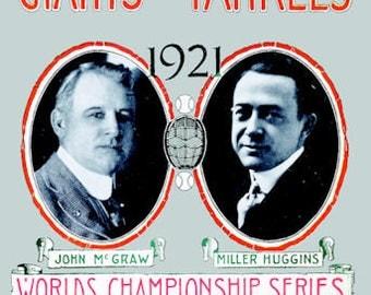 1921 New York Yankees World Series Poster