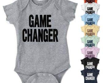 Game Changer New Parents Baby Shower Gifts Funny Saying Baby Romper Bodysuit