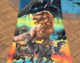 Dinosaur Beach Towel - Personalized Beach Towel