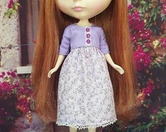 99 # Neo Purple Flower Dress