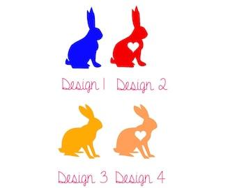 Rabbit Love Vinyl Decal
