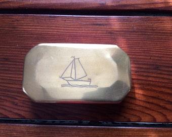 vintage copper tobacco tin
