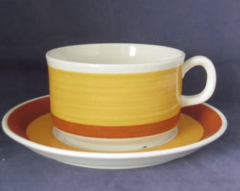 Gefle of Sweden, Stina, Tea cup and saucer.