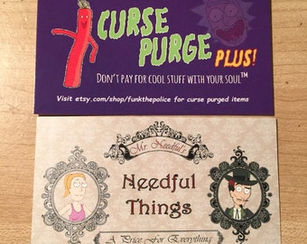 15 Rick & Morty Curse Purge Plus/ Needful Things Business cards!
