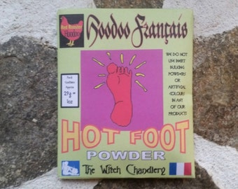 Hot foot powder, hoodoo hotfoot, fiery hotfoot powder, foot track, hoodoo tricks, African-American folklore