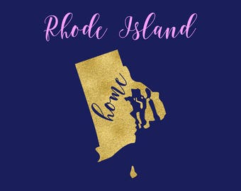 Rhode Island SVG, Rhode Island State Map Clipart, Welcome To Rhode Island SVG, Rhode Island Cricut Cutting Files, Silhouette Cameo, BUY3FOR5