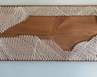 North Carolina reverse string art | North Carolina string art | NC home decor