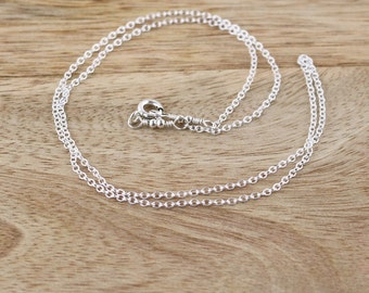 Sterling Silver Trace Chain. Pendant & Necklace Chain. Strong Lightweight Delicate Chain. 14,15,16,17,18,19,20,22,24 Inch Length Available
