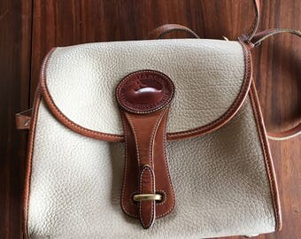 Vintage Dooney and Bourke Leather Purse, cream and brown