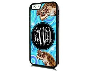 Monogrammed iPhone 7 Sea Turtle Case-iPhone 7 PLUS/Personalized iPhone 7- iPhone 7 PLUS Case