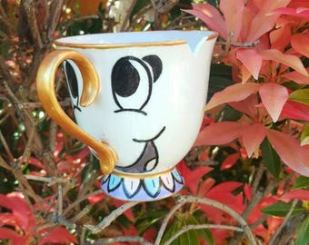 Beauty and the Beast Inspired Chip mug teacup